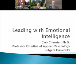 Leading with Emotional Intelligence Event with Dr. Cary Cherniss